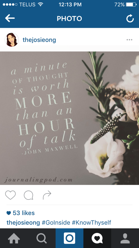 Affirmation Pod - Instagram - Minute of Thought