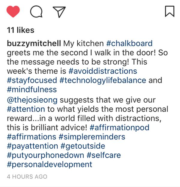 Affirmation Pod - Instagram - Buzzy Mitchell