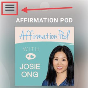Affirmation Pod Premium Access Menu Hamburger